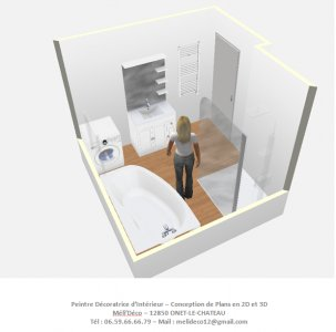 Plans 3d meli d co int rieur meli 39 deco peintre for Reno salle de bain